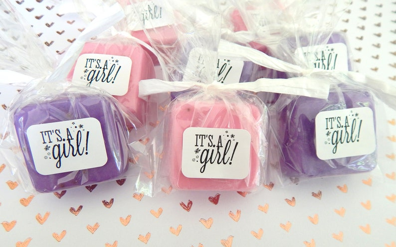Its a Girl Baby Shower Soap Favors Baby Shower Favor Soaps image 0