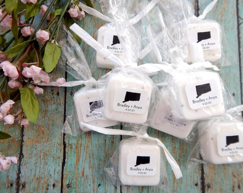 Connecticut State Personalized Connecticut Wedding Favor Mini Soap Favor Bridal Shower Bridal Party Bachelorette Connecticut Party Favor
