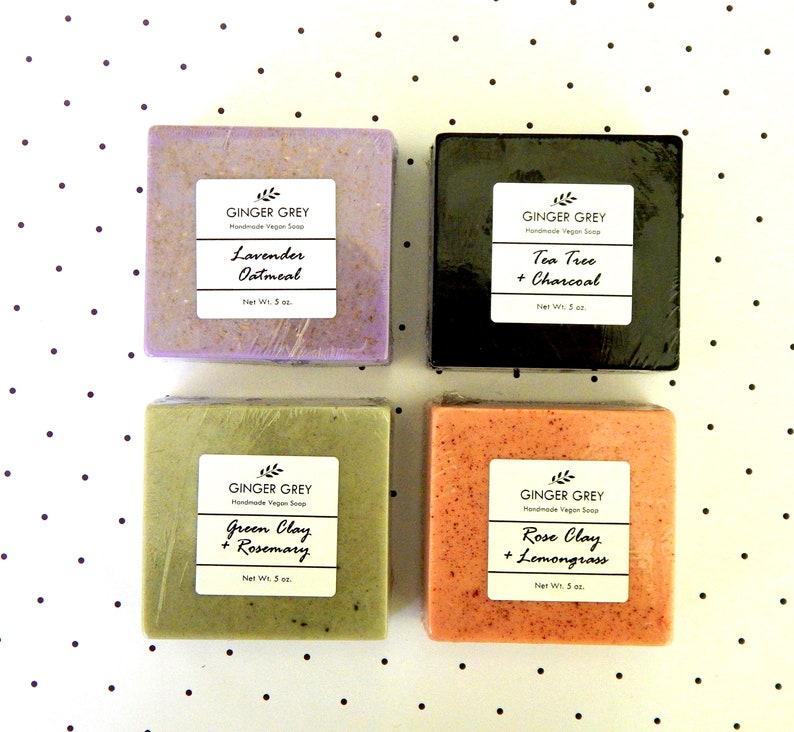 All Natural Soap Set of 4 Homemade Natural Soap Gift Set image 0
