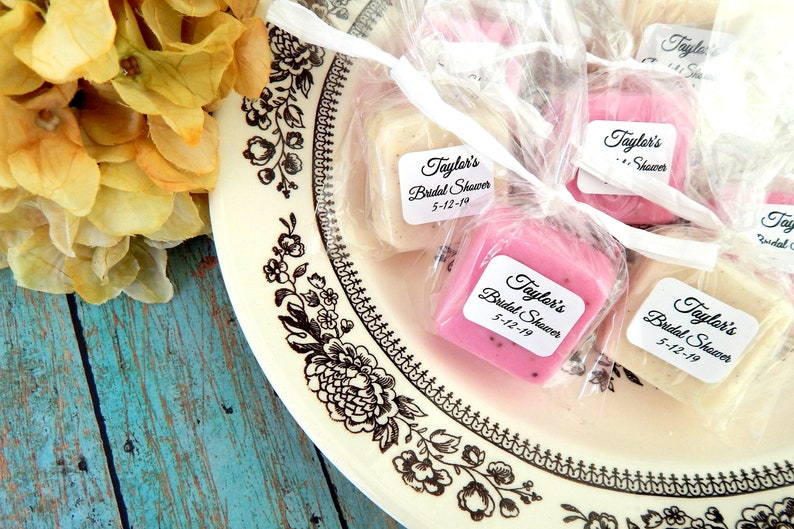 Mini Soap Favors Personalized Bridal Shower Favors Wedding image 0