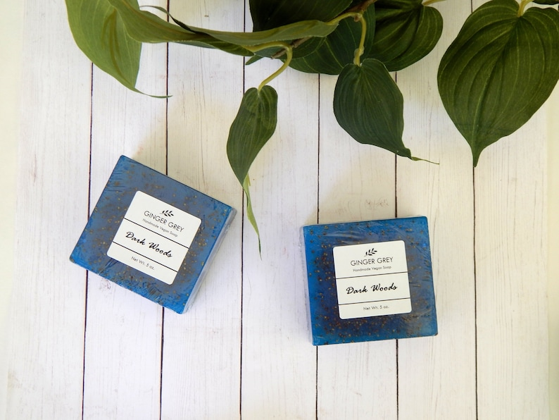 DARK WOODS Masculine Soap for Men Manly Soap Unique Gift Ideas image 0