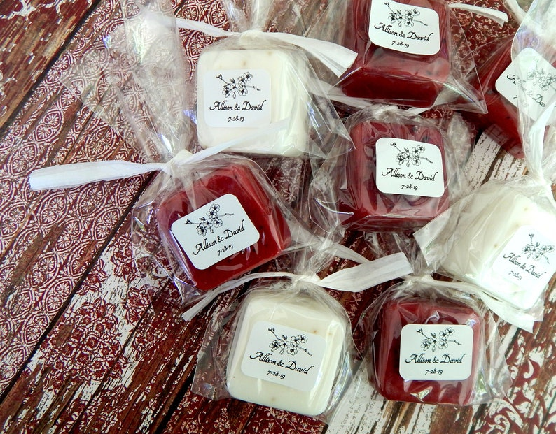 Cherry Blossom Bulk Wedding Favors  Soap For Guests  image 0