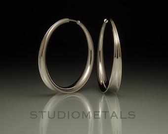 Silver Hoop Earrings, Sterling Silver Earrings, Hoop Earrings, Hammered Silver Hoops, Large Silver Hoops, E157