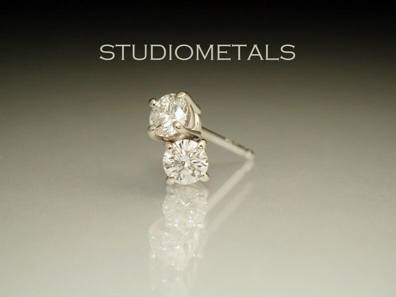 7a7256fdd Diamond Stud Earrings 3mm Diamond Studs Diamond Post | Etsy