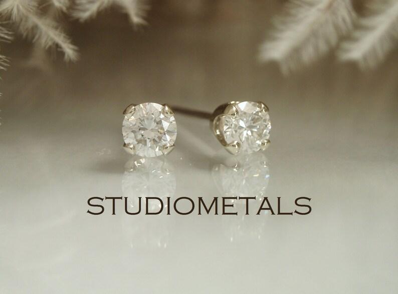 f19f259f2 Diamond Earrings Diamond Stud Earring 3mm Diamond Post | Etsy