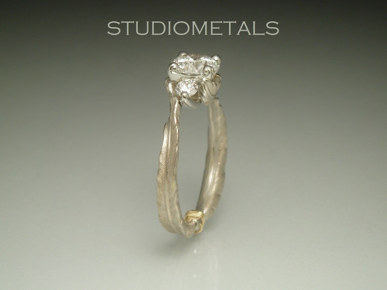 Fine Jewelry Diamond Creative Brillant Diamant 14k Yellow White Deux Nuances Or Anneau Large Horizontal Bague