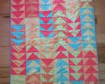 Modern Flying Geese Baby Quilt