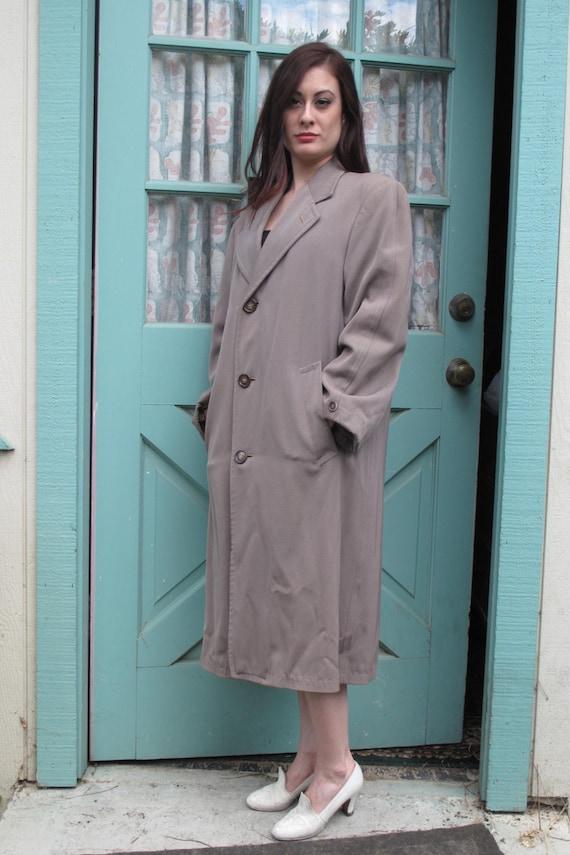 Vintage gabardine overcoat