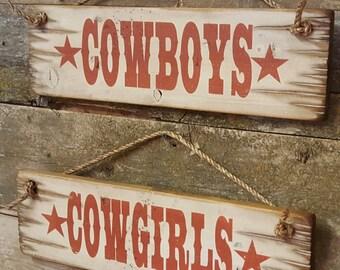 Cowboys-Cowgirls, Western, Wooden Signs