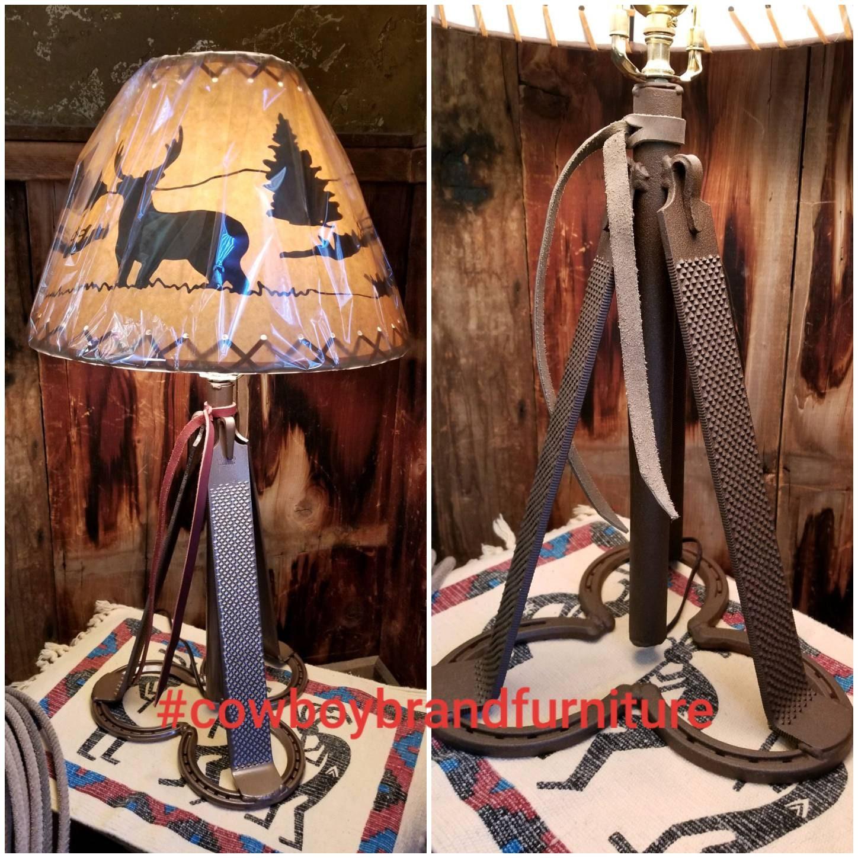 Handmade, Western, Lodge, Metal Art, Lamp