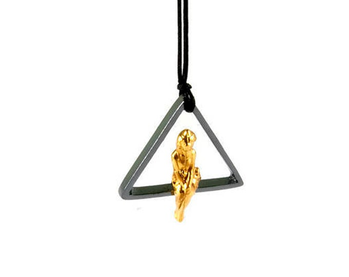 The Golden Lady Sterling Silver Pendant