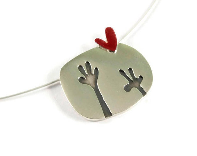Hello Love Sterling Silver Pendant