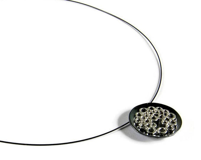 Bubbles Statement Pendant Necklace