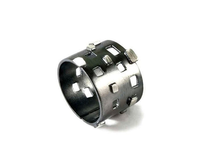 Modern Geometric Two Color Sterling Silver Ring