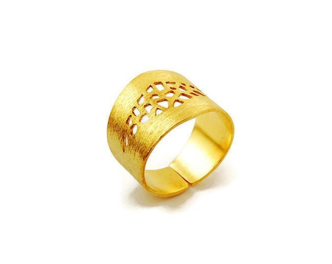 Himmeli Bold Statement Wide Band Ring