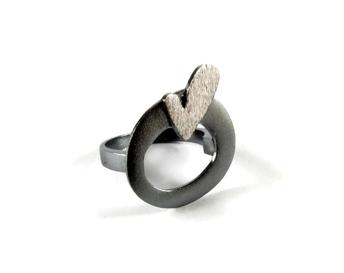Love Squared Big Bold Statement Ring