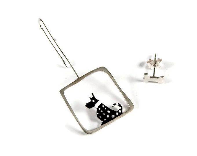 Dog Pet Lovers Mismatched Earrings