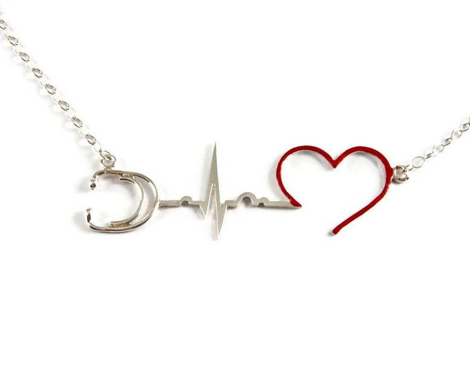 My Heart Goes Crazy Sterling Silver Necklace