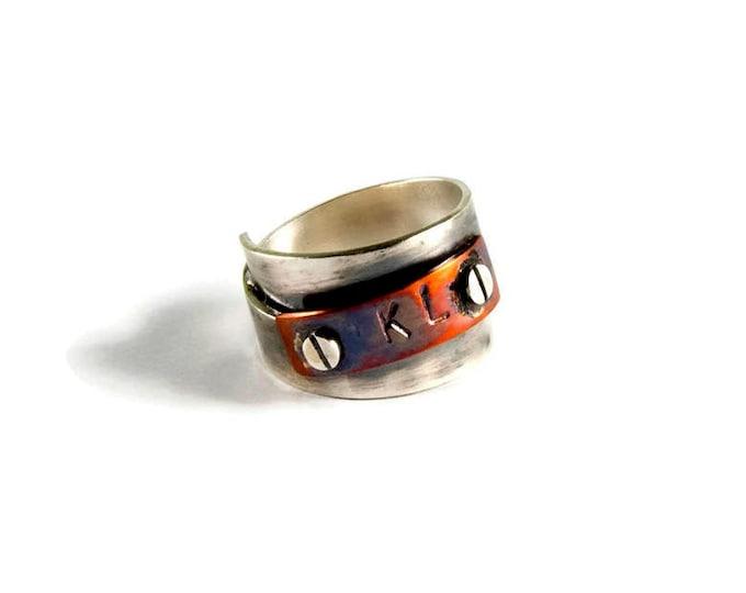 Men's Ring Rustic Industrial Style