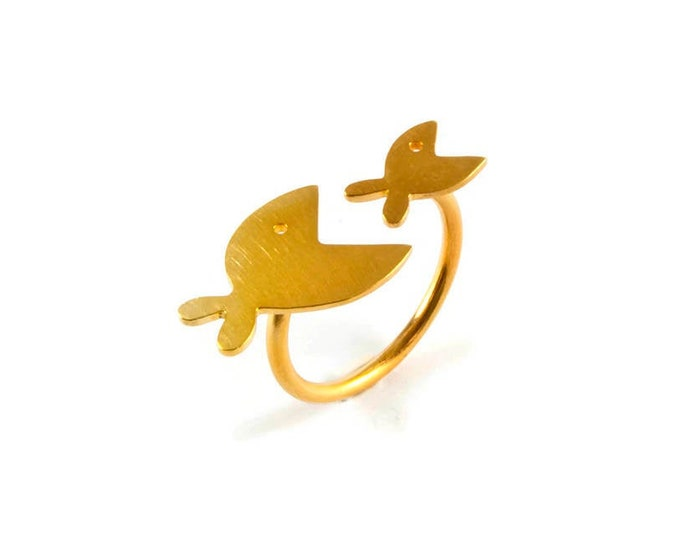 Two Fishes Open Ring