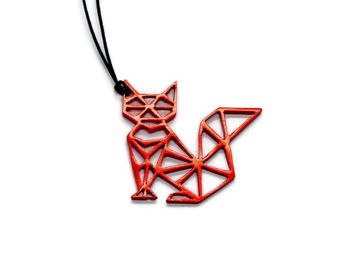 Cat Above Us On The Night Sky Pendant