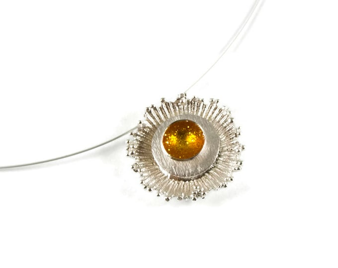 Cosmic Explosion Statement Sterling Silver Pendant
