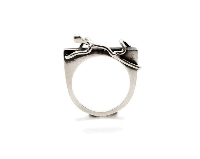 The Ultimate Climber Sterling Silver Statement Ring