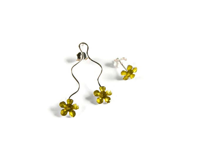 Floating Flowers Mismatched Earrings
