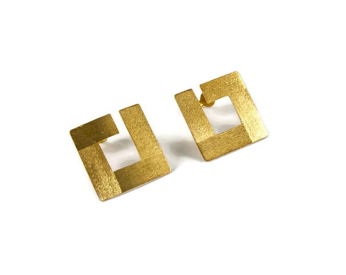 Square It Up Statement Earrings