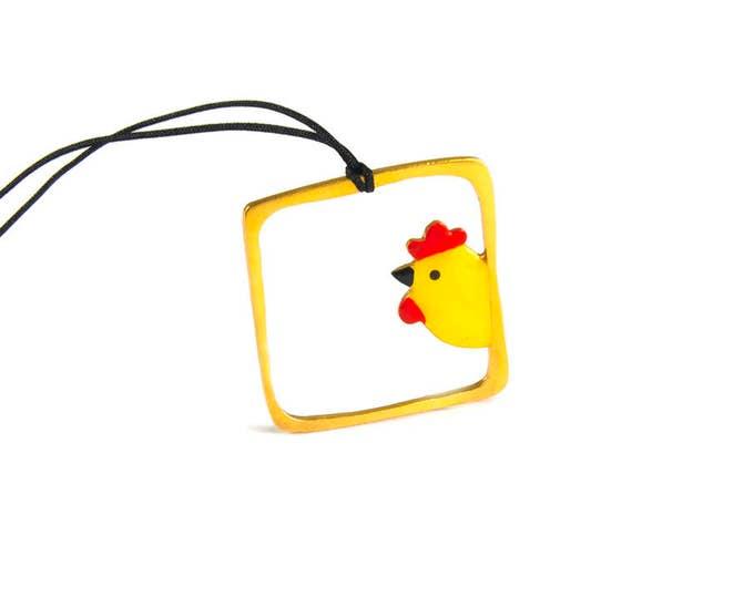 Goodmorning Sunshine Fun Chicken Pendant
