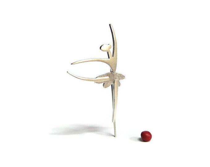 Ballerina Brooch Sterling Silver