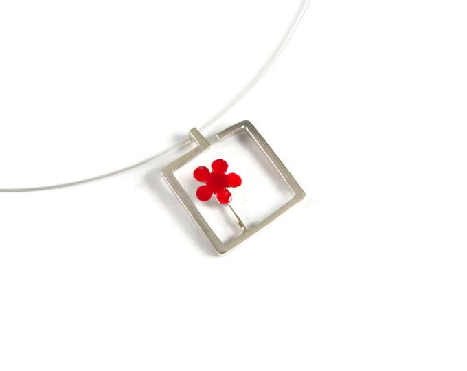 Blossoming Flower Color Pendant Necklace