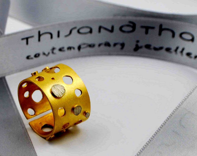 Dots Circles Open Statement Ring