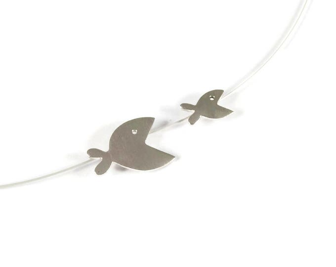Two Fishes Playful Pendant