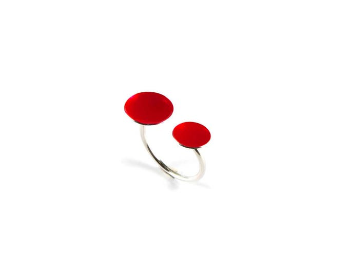 Color Dots Double Open Ring