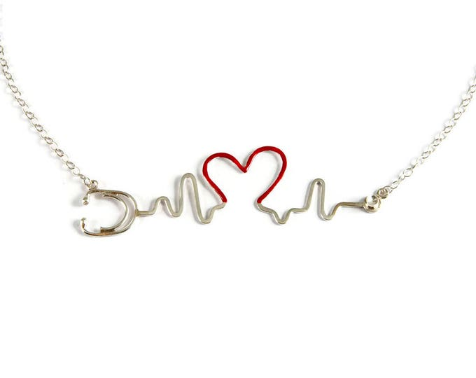 My Heart Will Go On Sterling Silver Bib Necklace