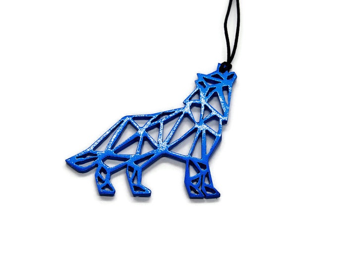 Wolf Above Us On The Night Sky Pendant