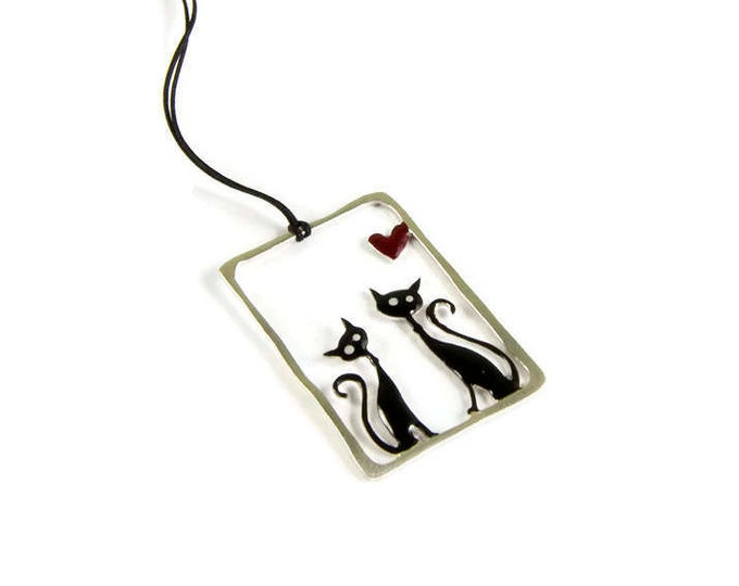 My Other Cat Pendant Sterling Silver