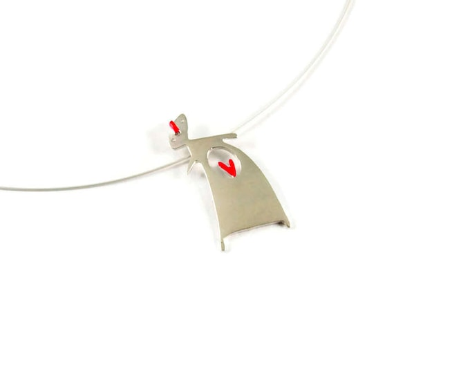 Pregnant Mother Sterling Silver Pendant
