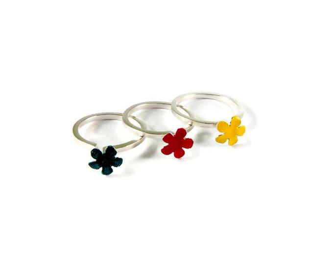 Flower Stacking Statement Ring