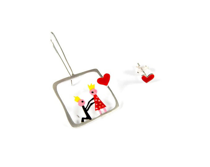 Love Story Mismatched Earrings