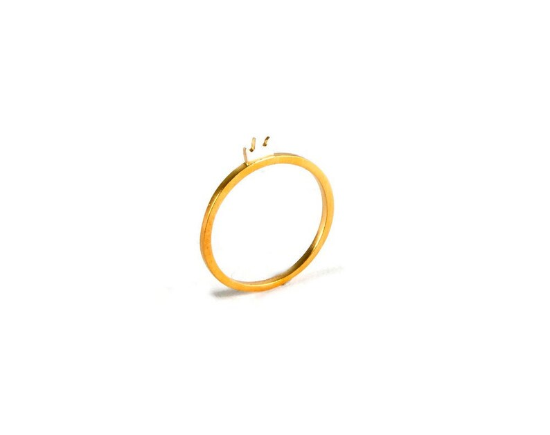Stacking Ring Band with Tiny Crown on Top Sterling Silver Yellow Gold Plated Stackable Ring Little Symbol Love Reigns Cute Fairy Tale Gift