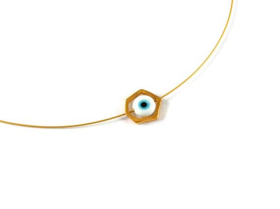 CHOISISSEZ VOTRE CHARME Collier avec pendentif Evil Eye en argent sterling pour hommes et femmes BLANC BLEU ou les trois Choisissez ROUGE