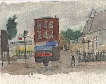 Bow Road, painting