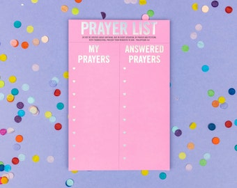 Prayer List Notepad - Desk Accessory