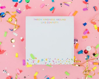 Confetti Sticky Note Cube