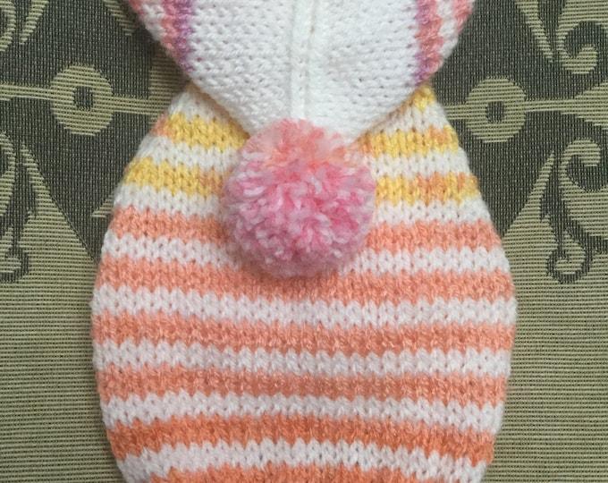 "Featured listing image: XXSmall 8""L 10""G hand knit dog puppy sweater jumper coat (raglan sleeved)"