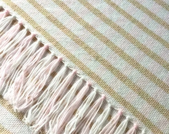 "Hand woven blanket 24"" x 34"" baby puppy dog chair lap"