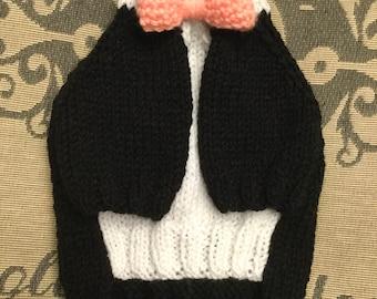 "XSmall 10""L 12""G hand knit dog puppy sweater jumper coat (raglan sleeved)"
