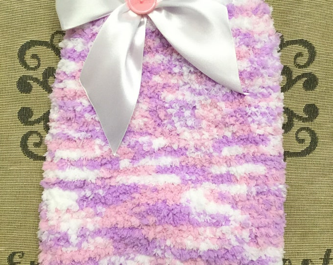 """Featured listing image: Small 11.5-12""""L 14""""G hand knit dog puppy sweater jumper coat (sleeveless)"""